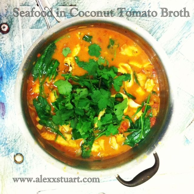 Seafood in Coconut Tomato Broth