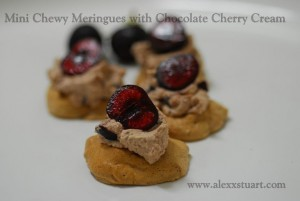 Chewy Meringue with Chocolate Cherry Cream