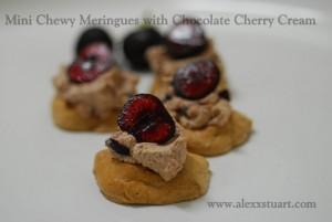 Chewy Meringue with Chocolate Cherry Cream