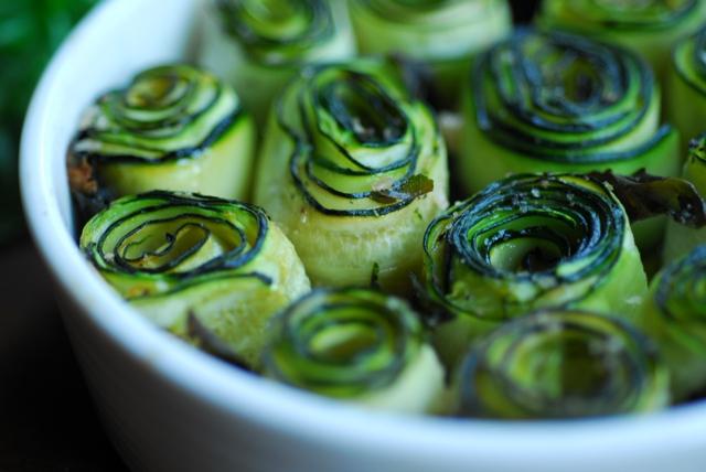 roasted zucchini spirals