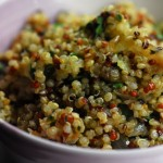 quinoa onion garlic pesto
