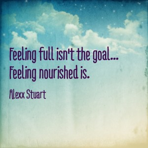feeling full
