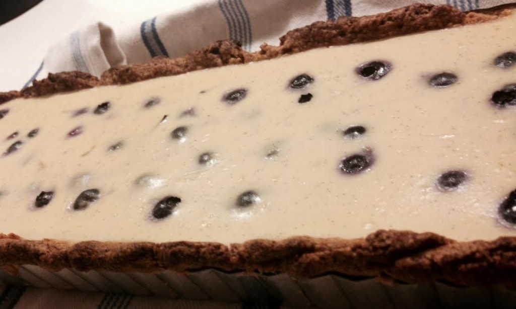 blueberry lemon custard tart