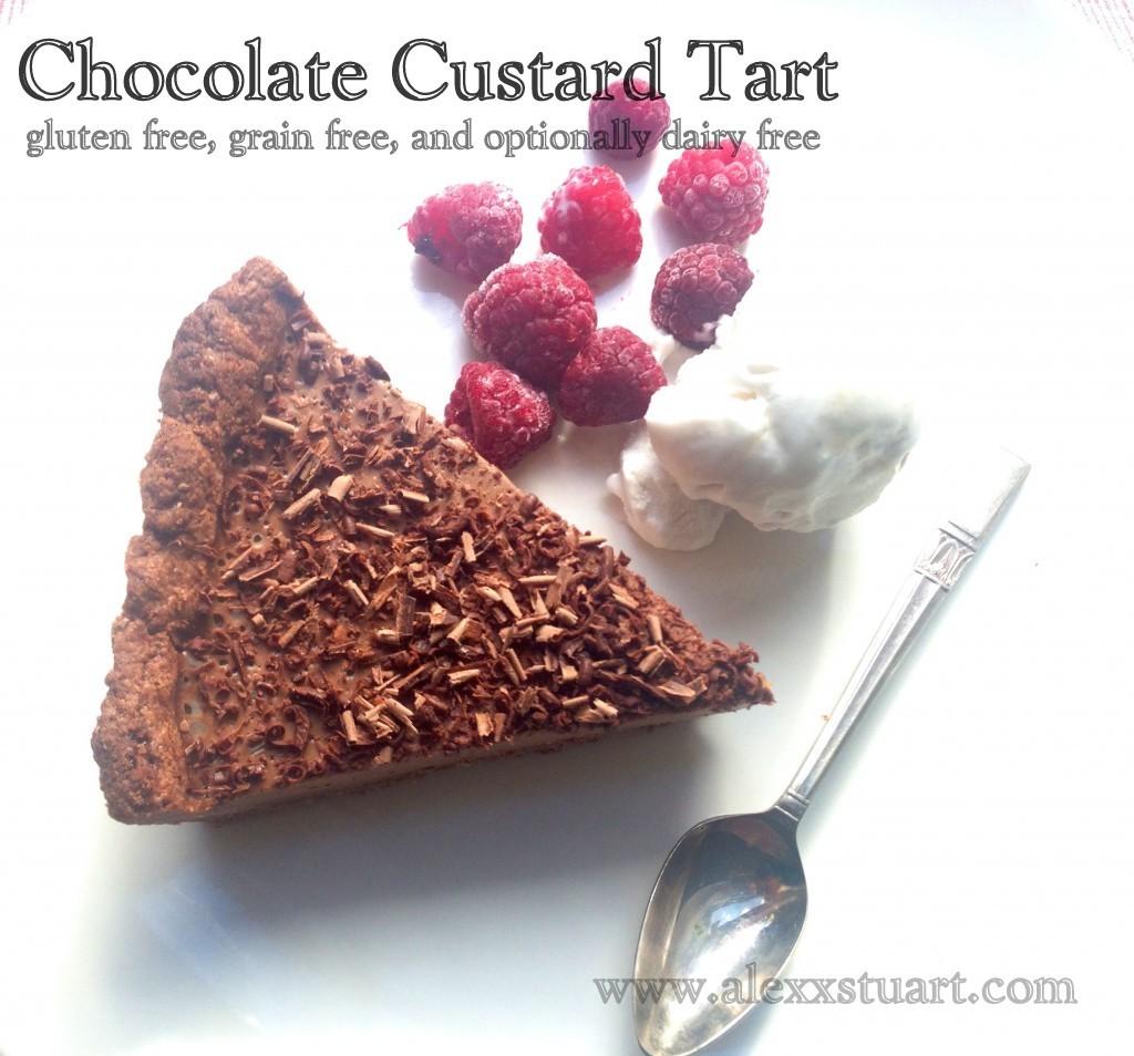 GAPS chocolate custard tart
