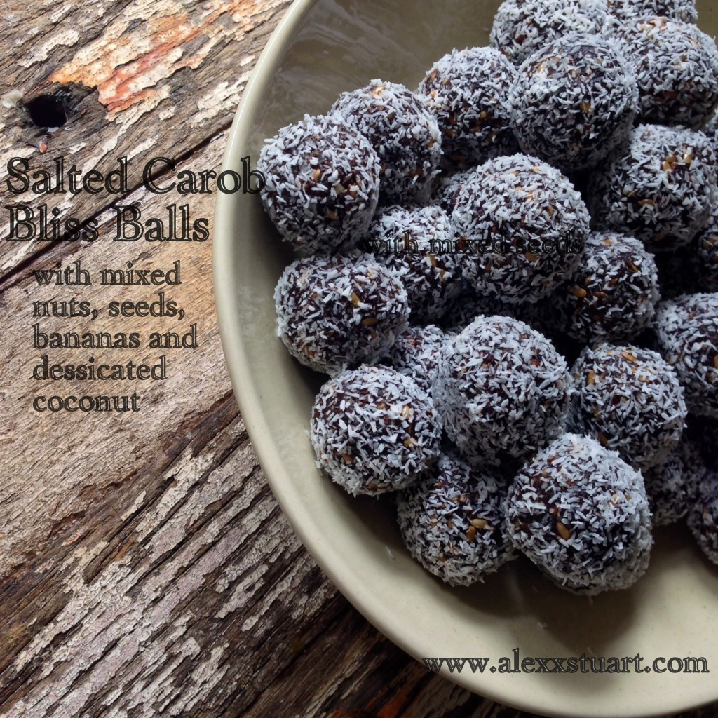 Salted Carob Bliss balls | Low Tox Life