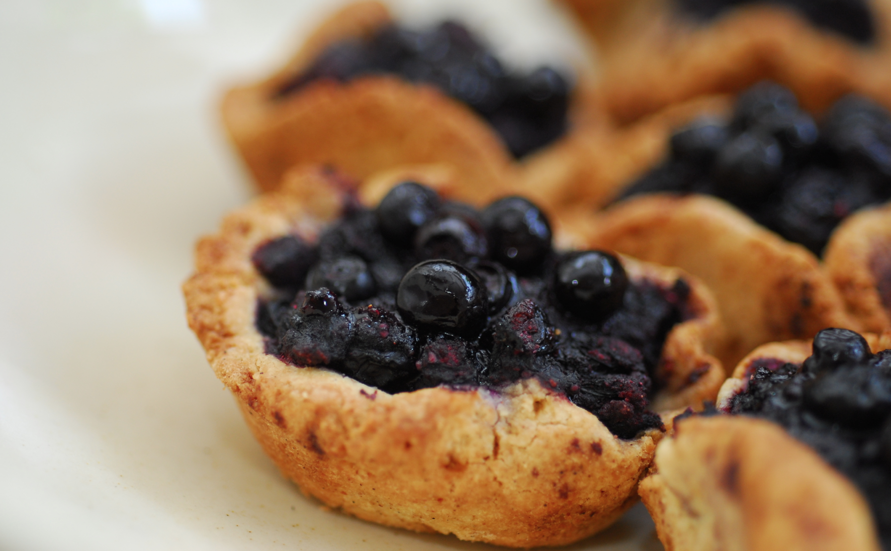 Gluten-free blueberry tartlet
