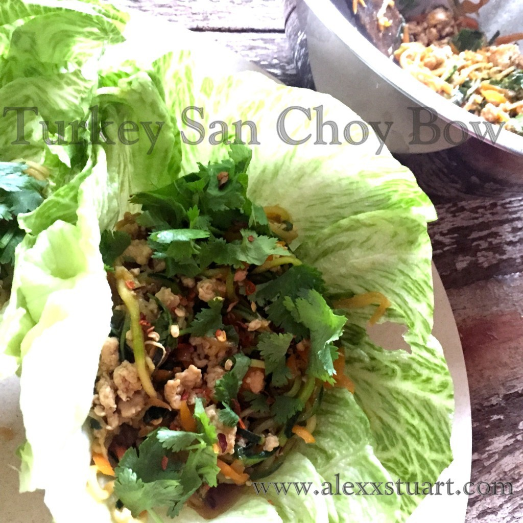 Leftover Turkey San Choy Bow