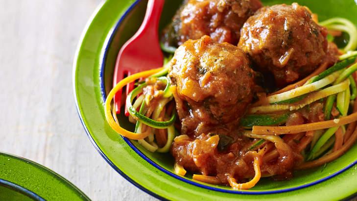 'Spaghetti' and meatballs.