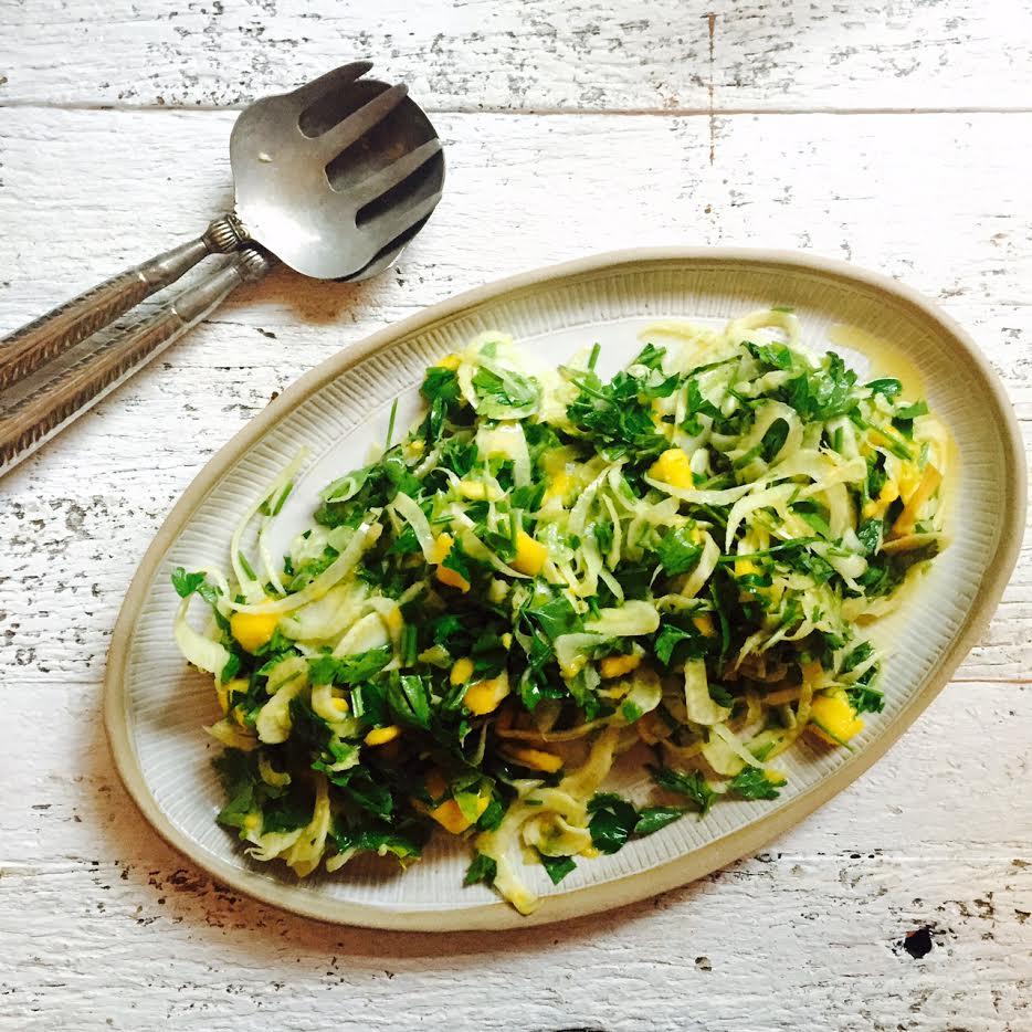 fennel herb mango salad
