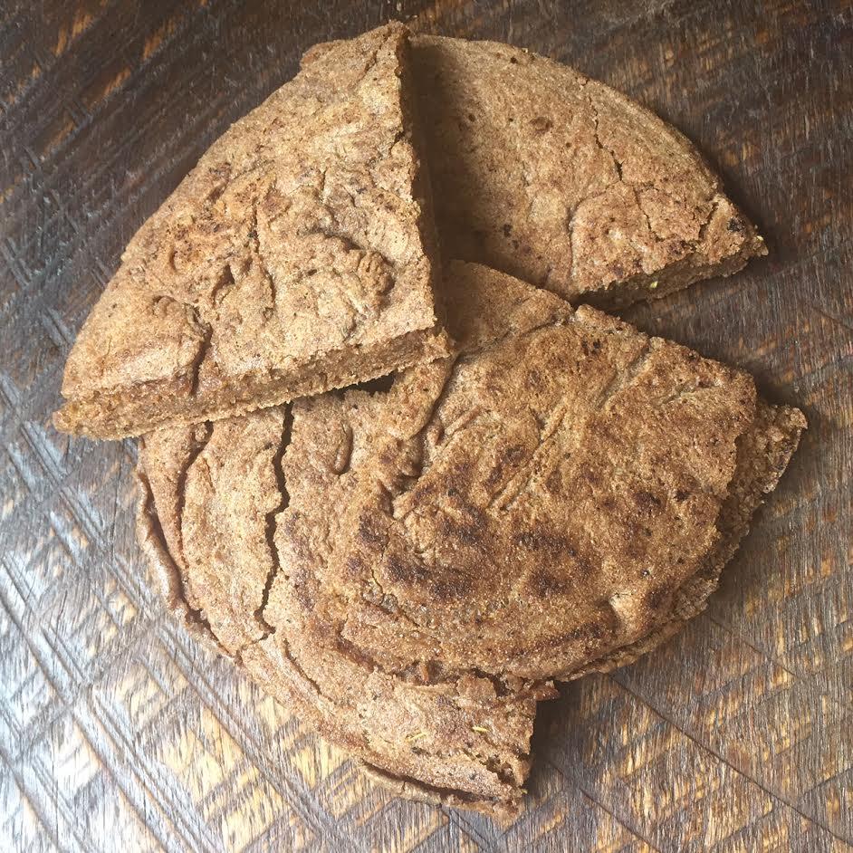Teff bread wedges