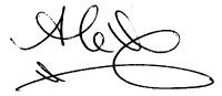 white background signature
